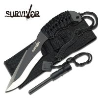 SURVIVOR FIXED BLADE KNIFE 7″ OVERALL