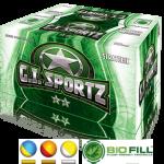 GI SPORTZ 2-STAR STRATEGIC PAINTBALLS 68CAL