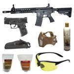 M15 6mm Airsoft Rifle With Pistol Combo