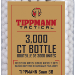 Tippmann 6mm 0.25g 3000ct bottle-White BBs